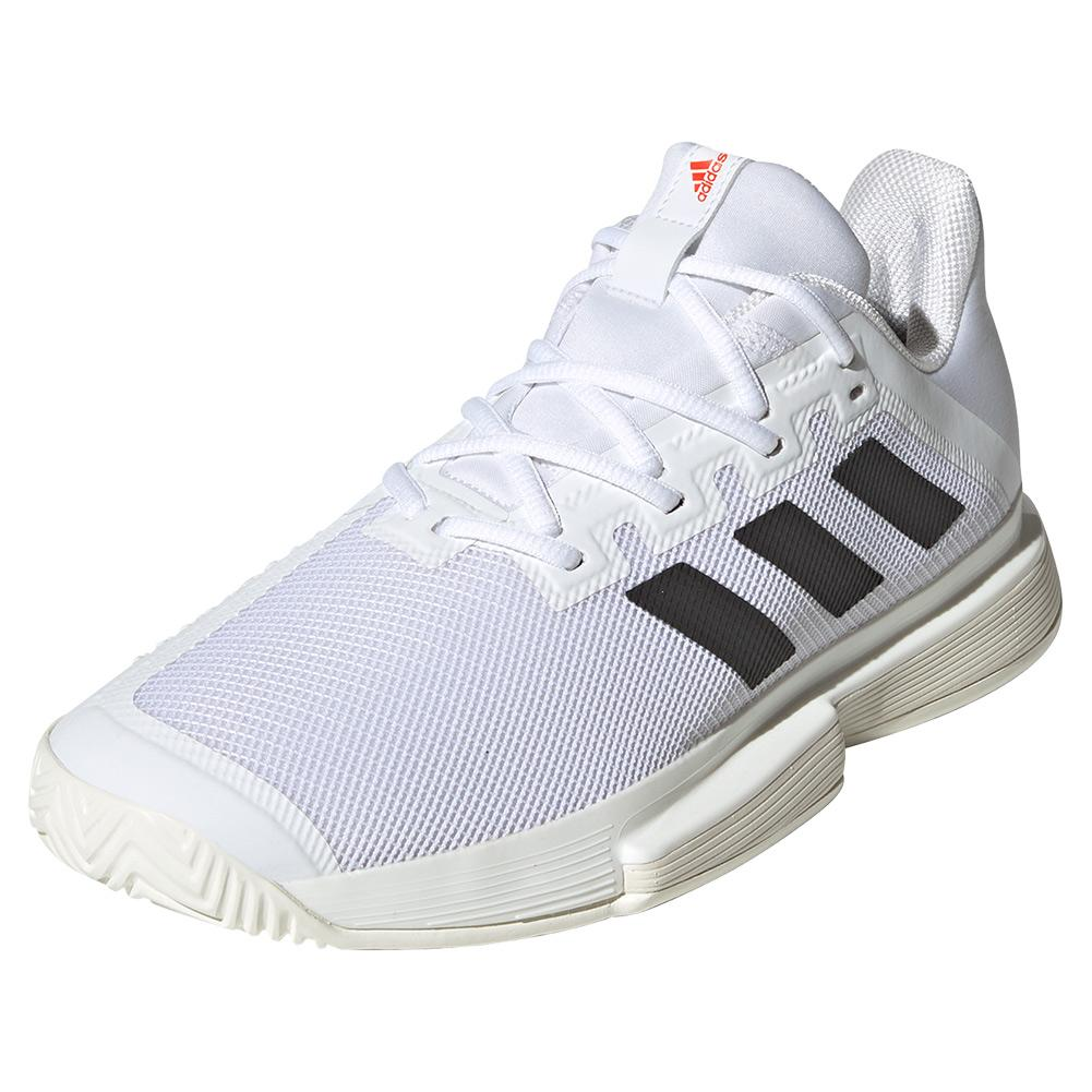 Men's Solematch Bounce Tennis Shoes White And Core Black