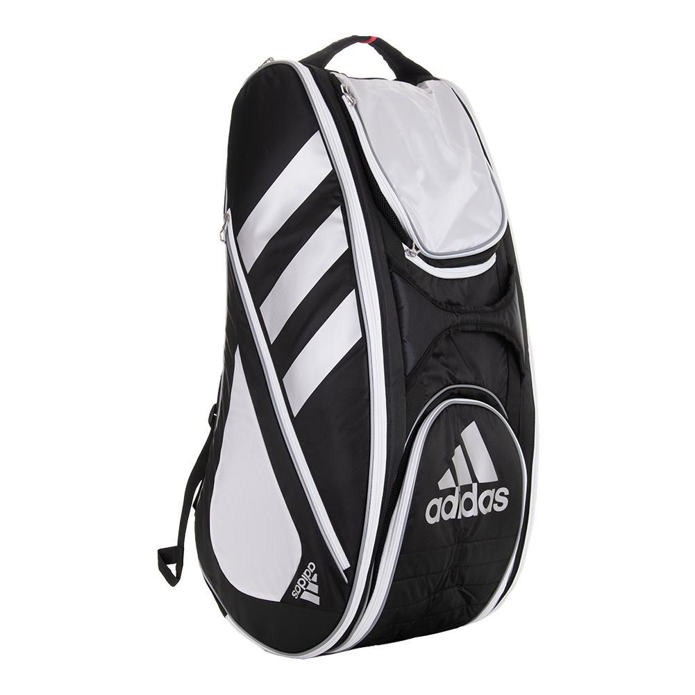 Tennis Racquet Sale >> adidas Tour Tennis 12 Racquet Bag (Black/White)