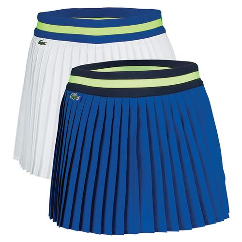 Women's Technical Contrast Waistband Pleated Tennis Skort