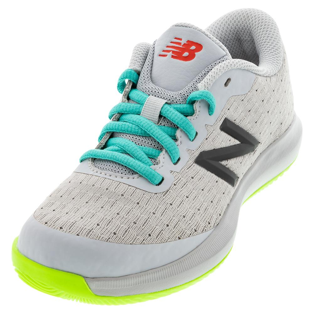 Juniors ` 996v4 Tennis Shoes Gray And Energy Lime