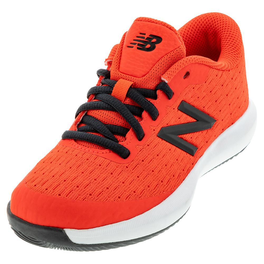 Juniors ` 996v4 Tennis Shoes Neo Flame And Black