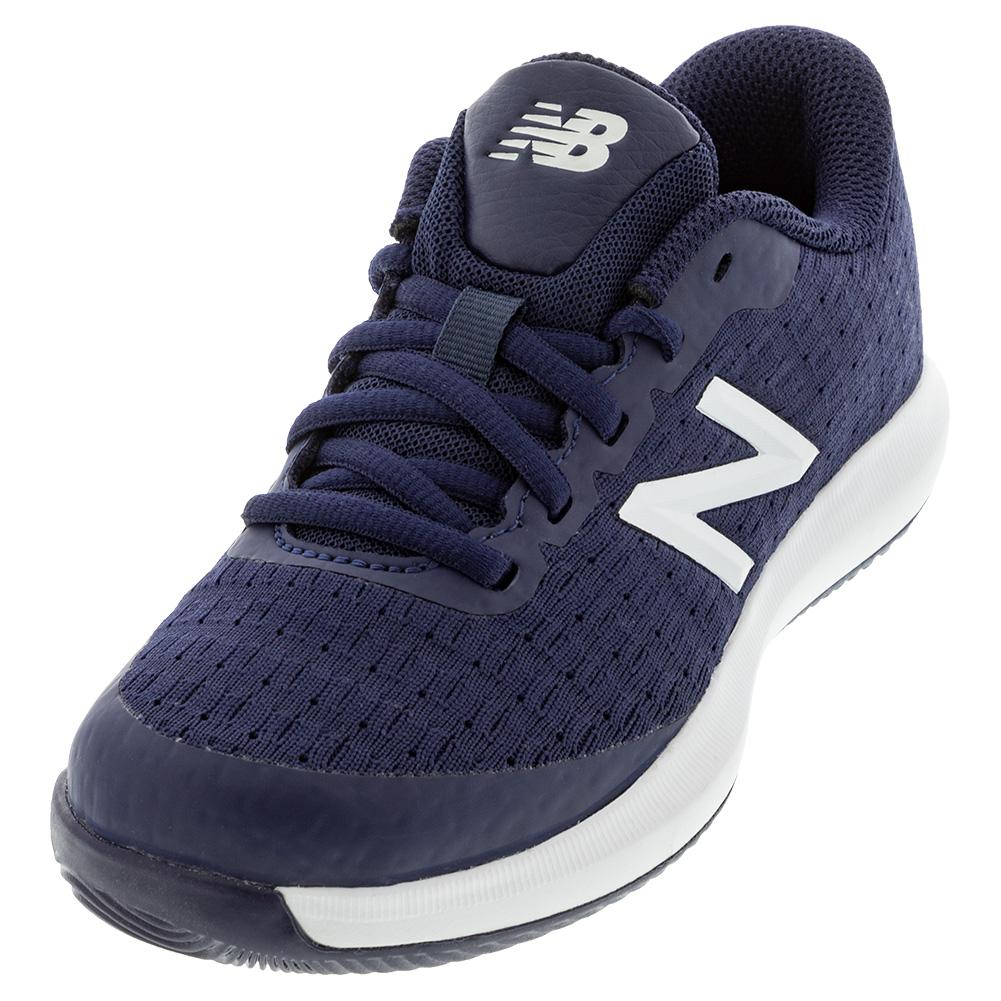 Juniors ` 996v4 Tennis Shoes Navy And White