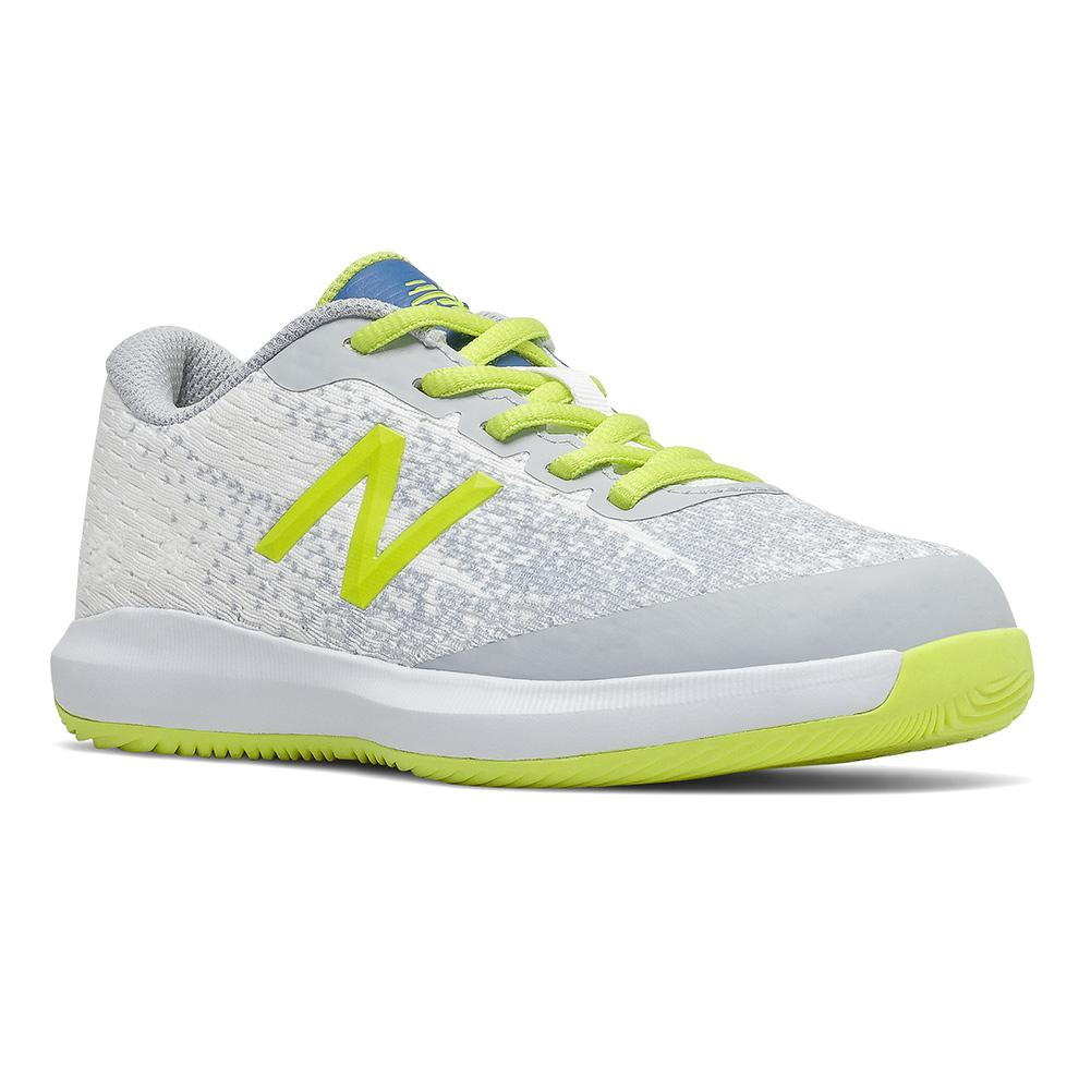 Juniors ` 996v4 Tennis Shoes White And Sulphur Yellow