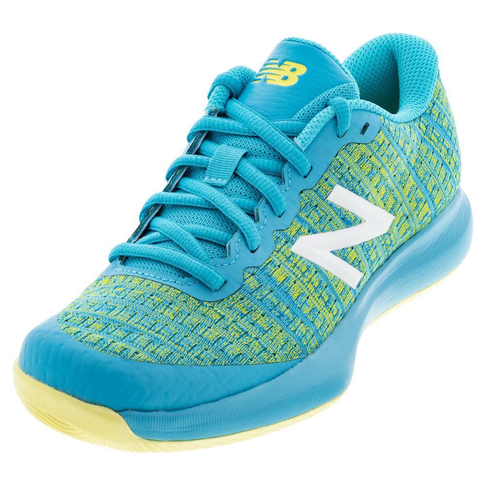 Juniors ` 996v4 Tennis Shoes Virtual Sky And Citra Yellow
