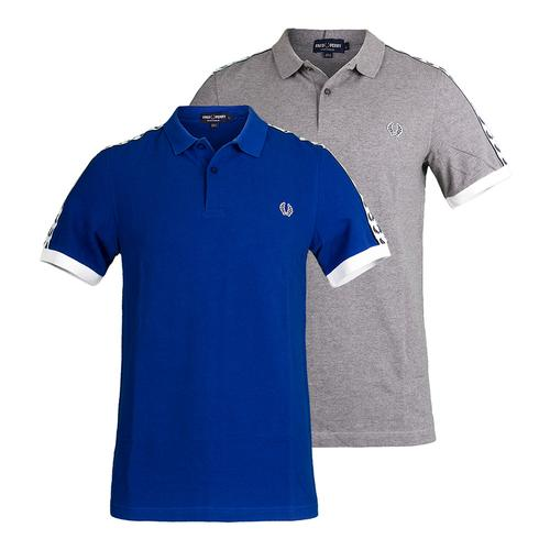 Men's Taped Pique Tennis Polo