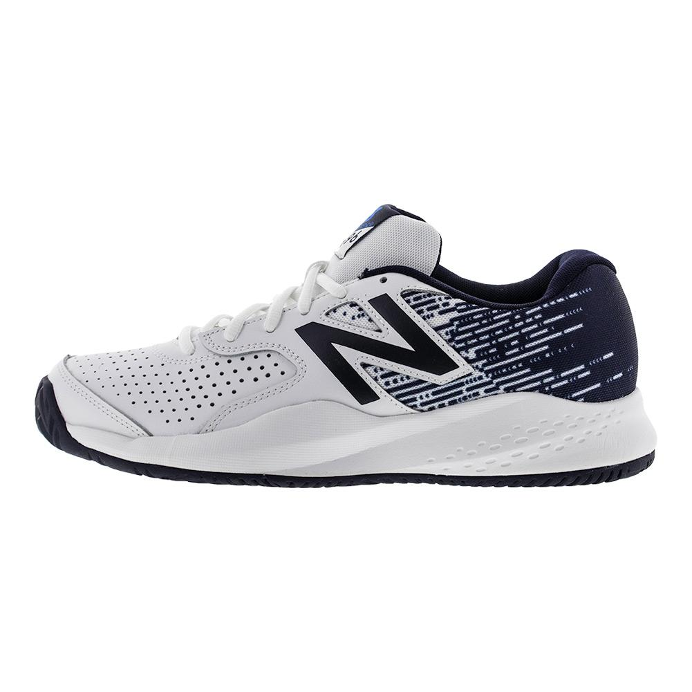 new balance s 696v3 d width tennis shoes in white and blue