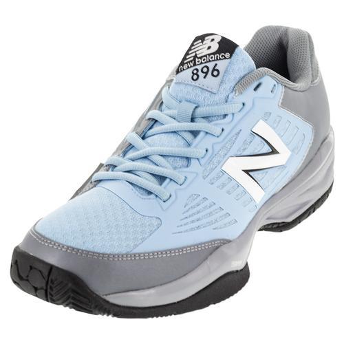Men's 896 D Width Tennis Shoes Light Gray And Light Blue