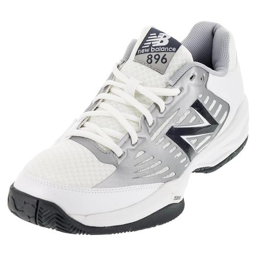 Men's 896 D Width Tennis Shoes White And Blue