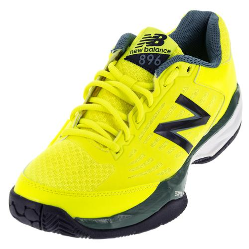 Men's 896v1 D Width Tennis Shoes Firefly And Blue