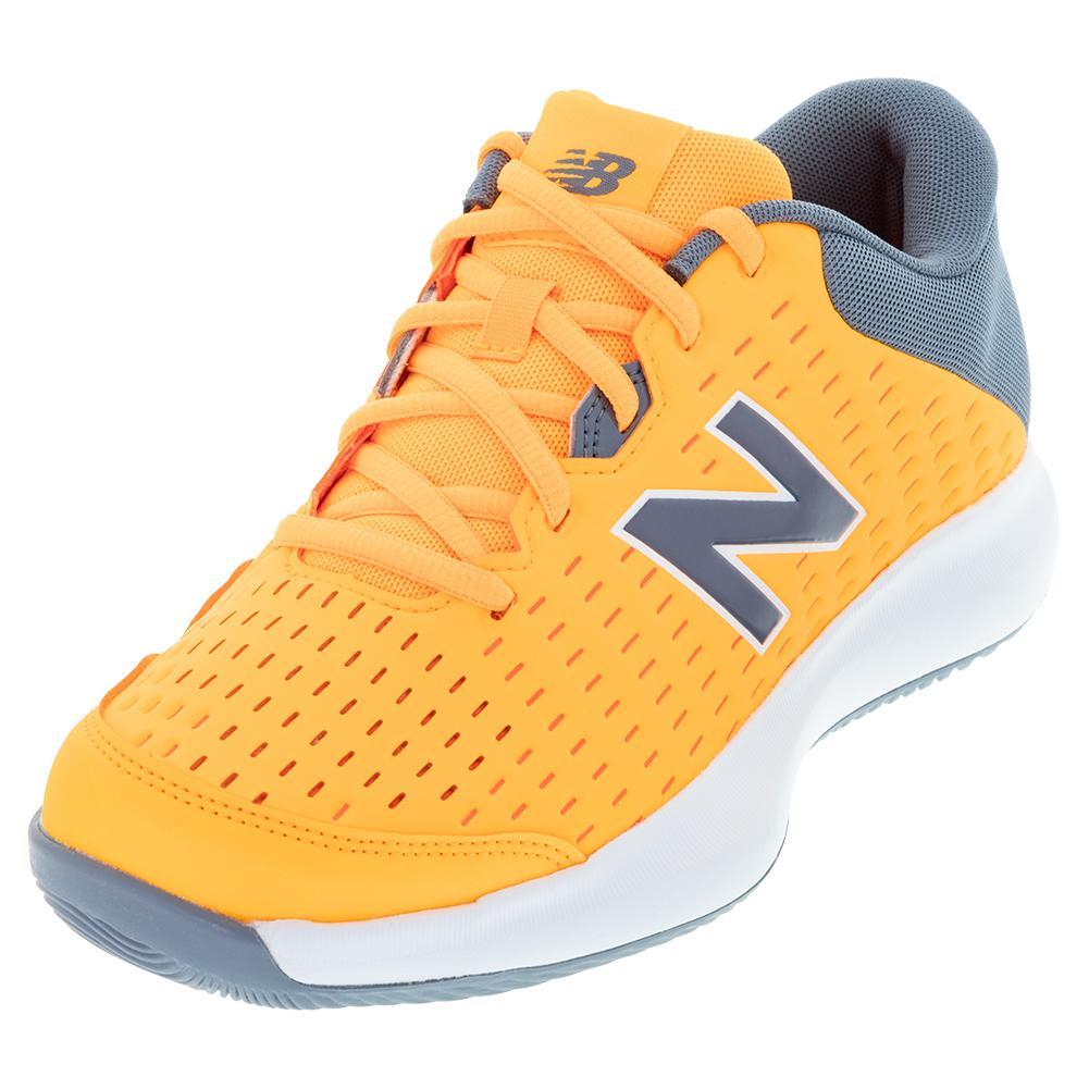 Men's 696v4 2e Width Tennis Shoes Impulse And Ocean Grey