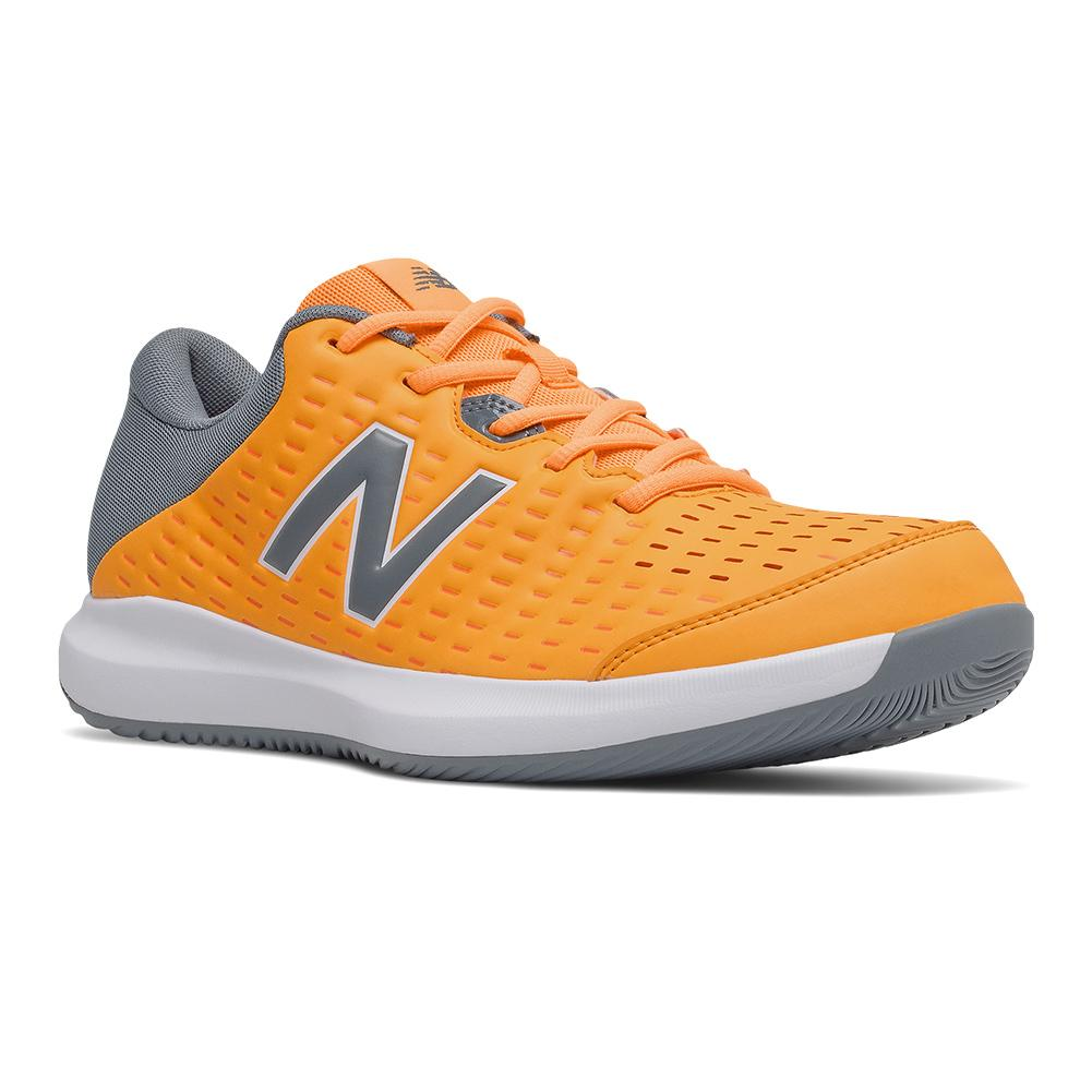 Men's 696v4 D Width Tennis Shoes Impulse And Ocean Grey