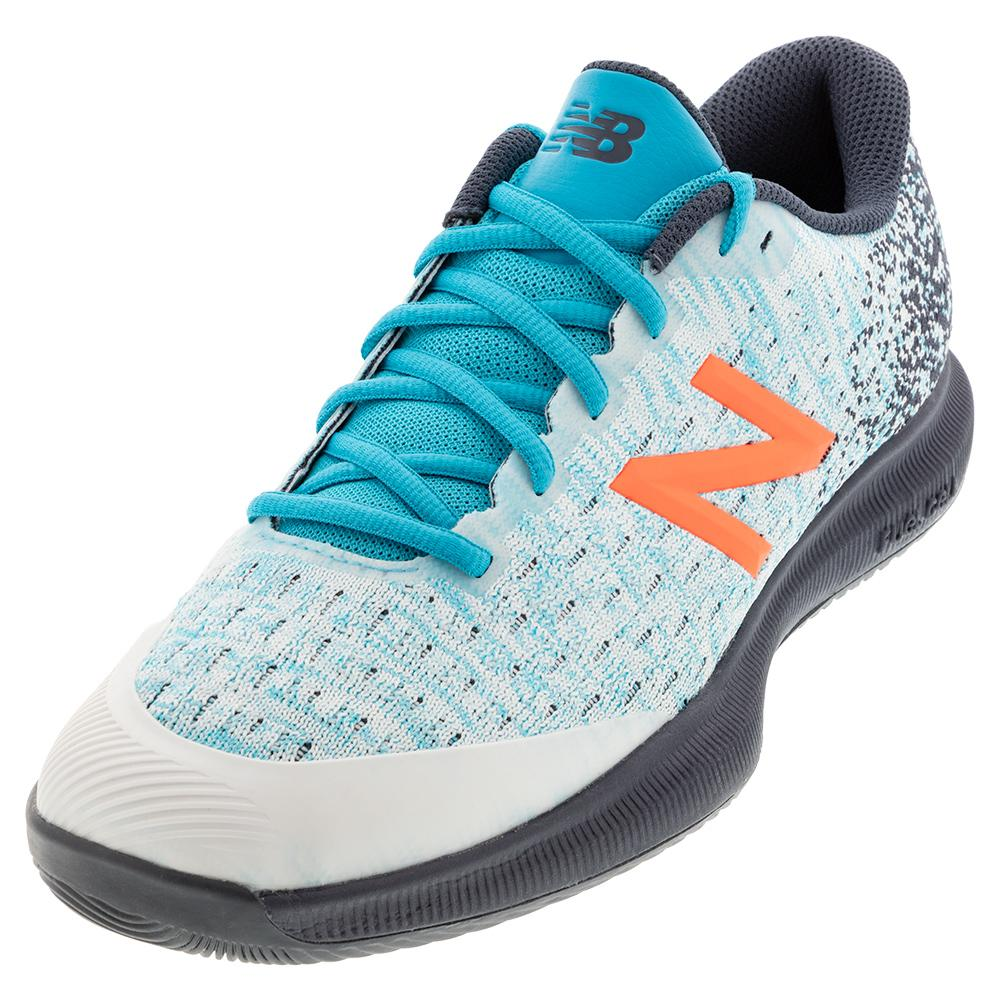 Men's Fuelcell 996v4 D Width Tennis Shoes White And Virtual Sky