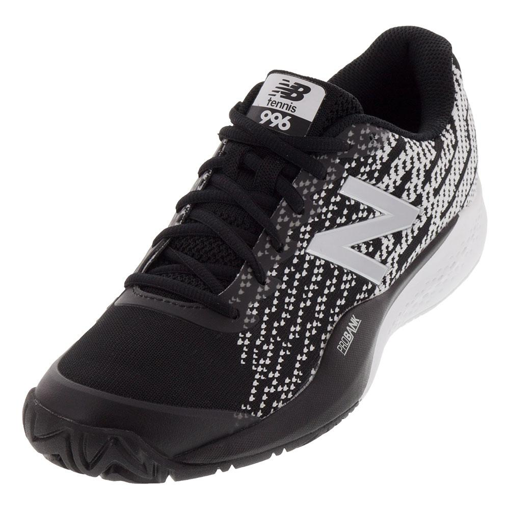 Men's 996v3 D Width Tennis Shoes Black And White