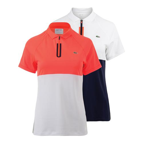 Women's Short Sleeve Color Block Ultra Dry Technical Tennis Polo