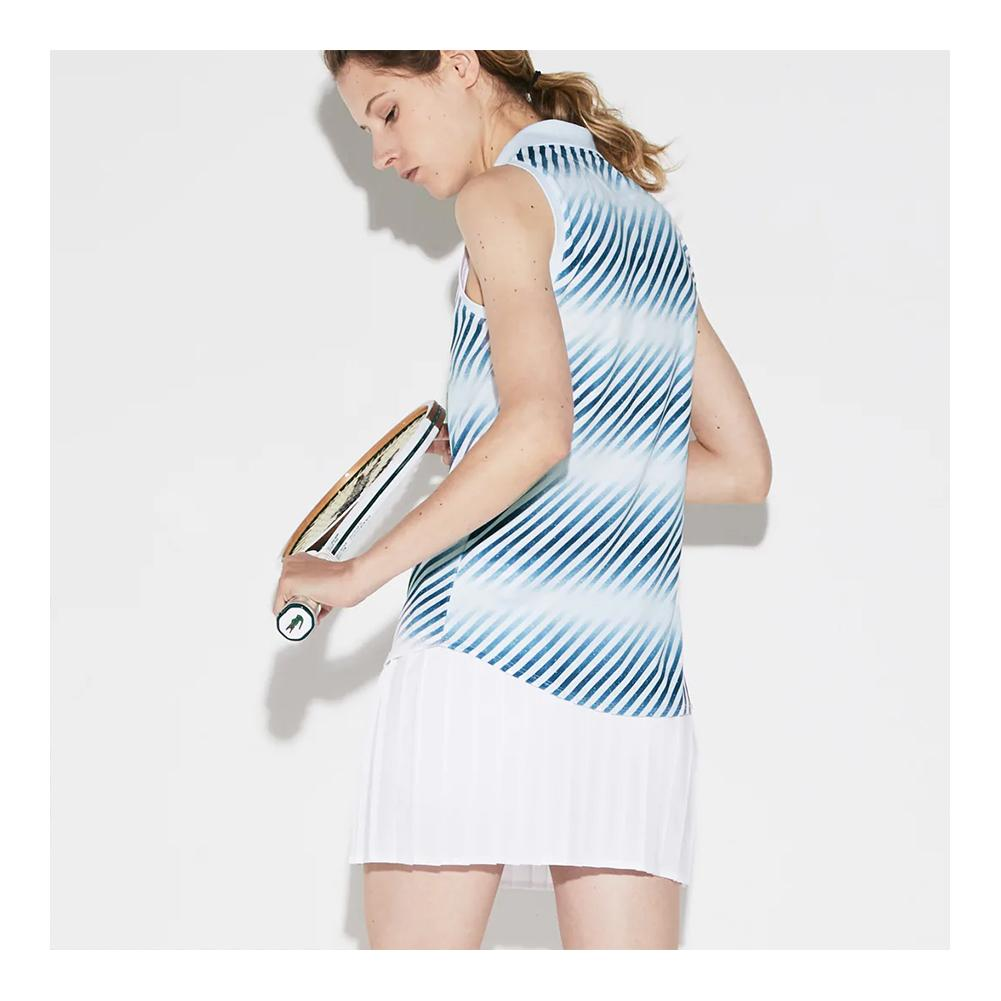 74605d167 Women`s Ultra Dry Printed Sleeveless Tennis Polo A0W_BLANC/NEOTTIA