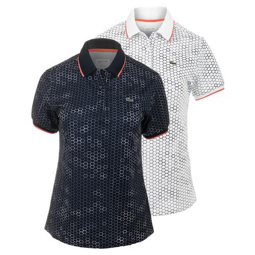 Women's Geometric Printed Technical Tennis Polo