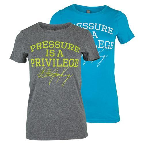 Women's Pressure Is A Privilege Tennis Tee