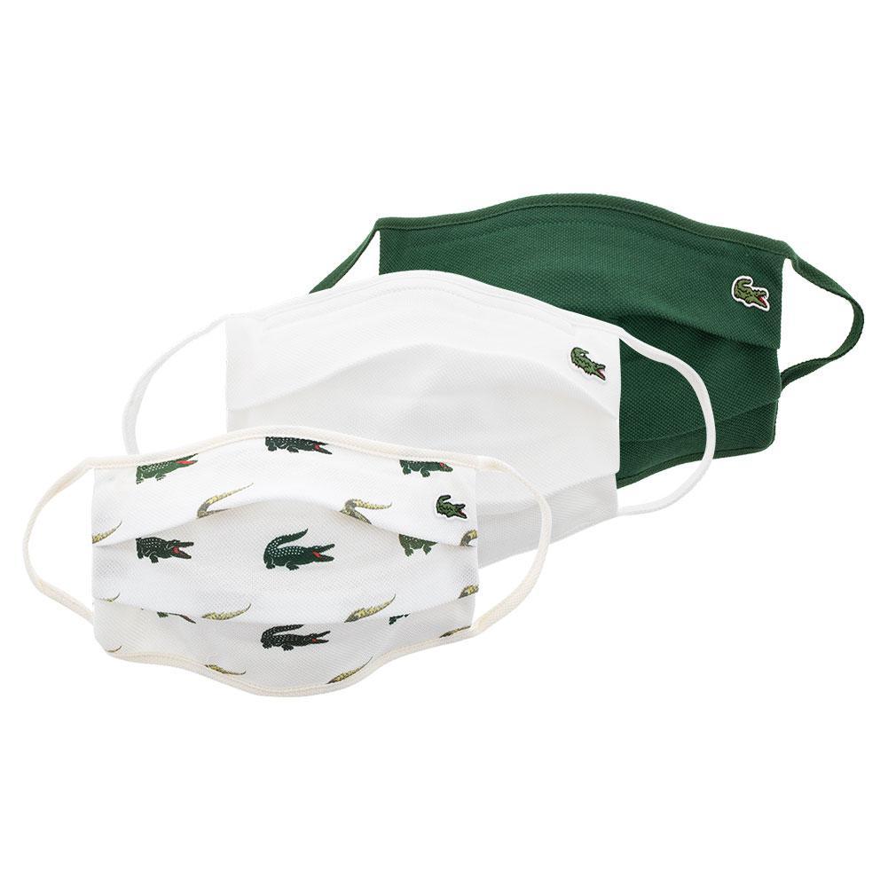 Men's Tennis Face Masks (3 Pack) Green Abd Flour