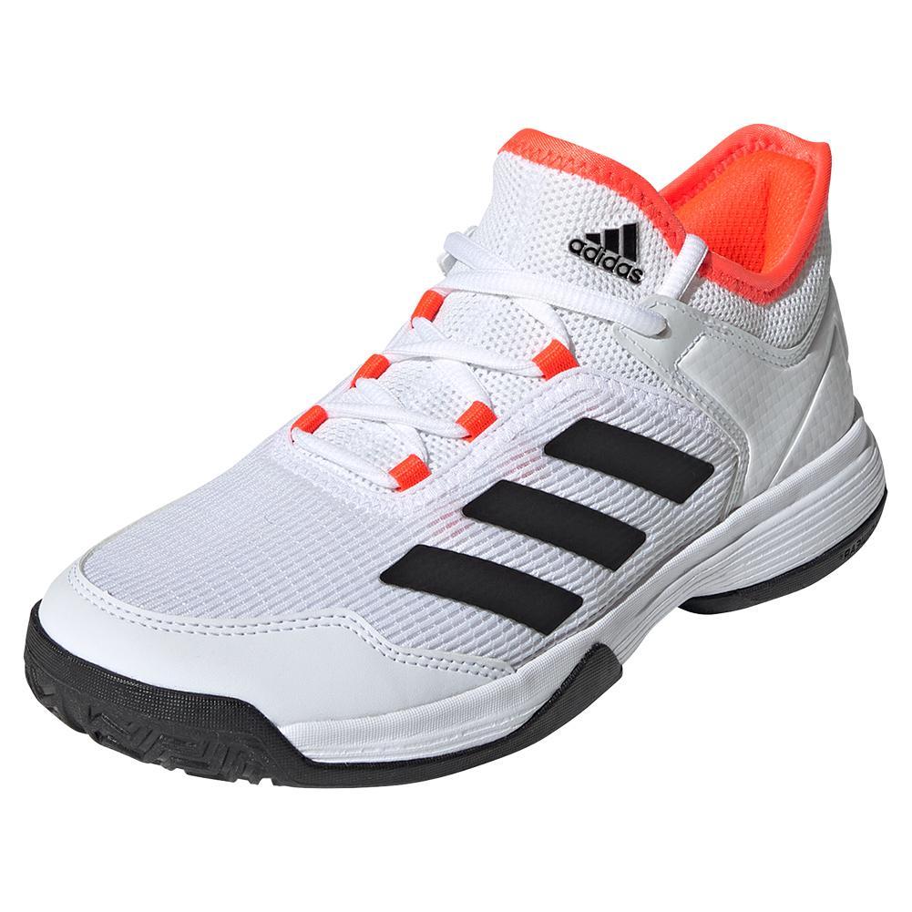 Juniors ` Ubersonic 4 K Tennis Shoes White And Core Black