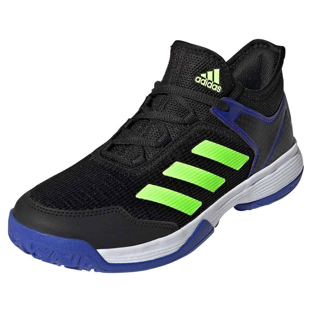Juniors ` Ubersonic 4 K Tennis Shoes Core Black And Signal Green