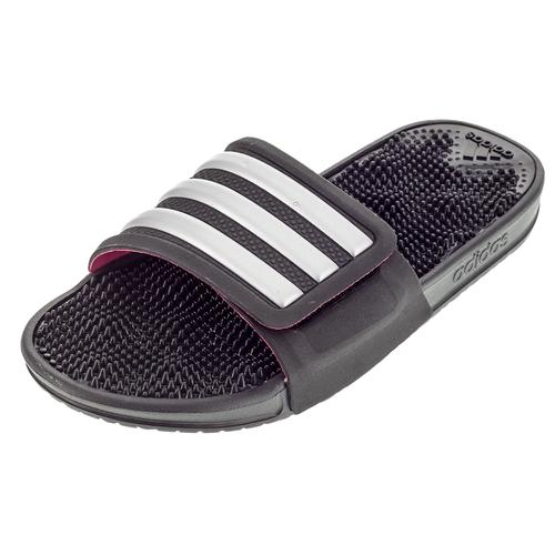 Women's Adissage 2.0 Black And Silver Metallic