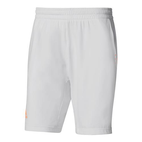 Men's Barricade Tennis Short White And Glow Orange