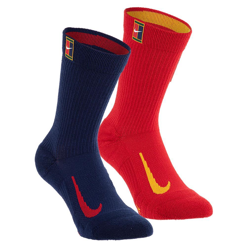 Court Multiplier Cushioned Tennis Crew Socks (2 Pairs) Multi- Color