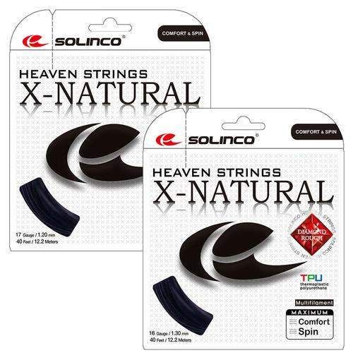 X- Natural Tennis String Black