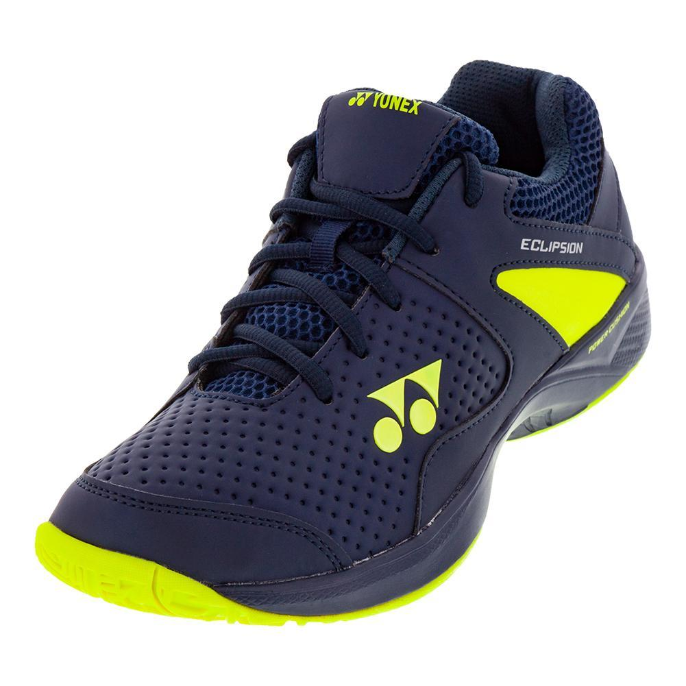 Juniors ` Power Cushion Eclipsion 2 Tennis Shoes Navy And Yellow
