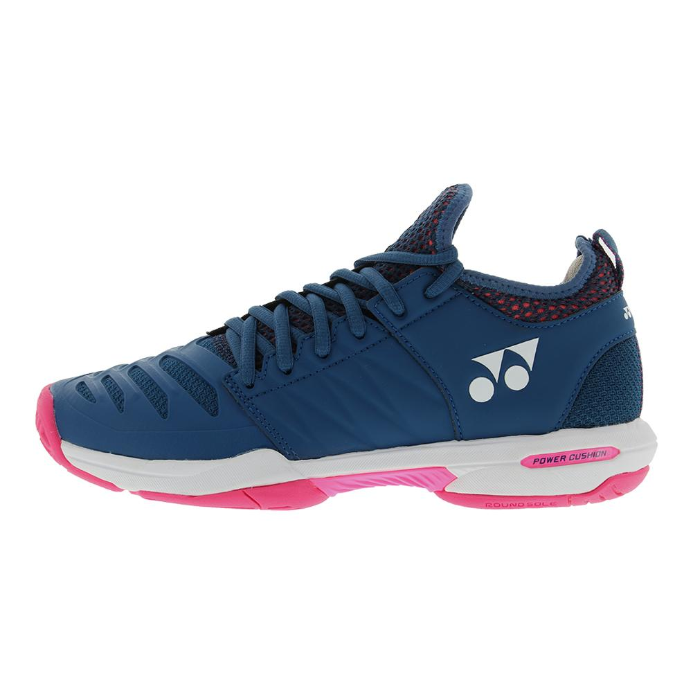 YONEX YONEX Women s Power Cushion Fusionrev 3 Tennis Shoes Navy Pink. Zoom.  Hover to zoom click to enlarge. 360 View e8ee98cbd20
