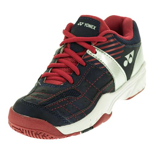Juniors ` Power Cushion Pro Tennis Shoes Navy Blue