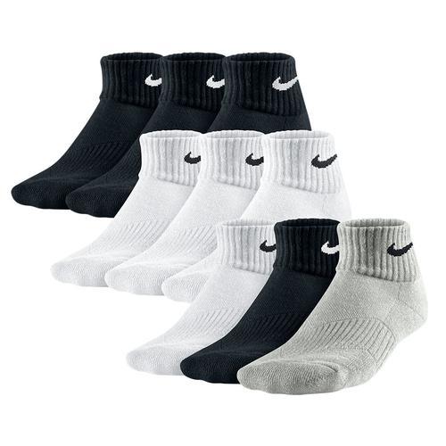 Boys ` Cotton Cushion Quarter Sock 3 Pack