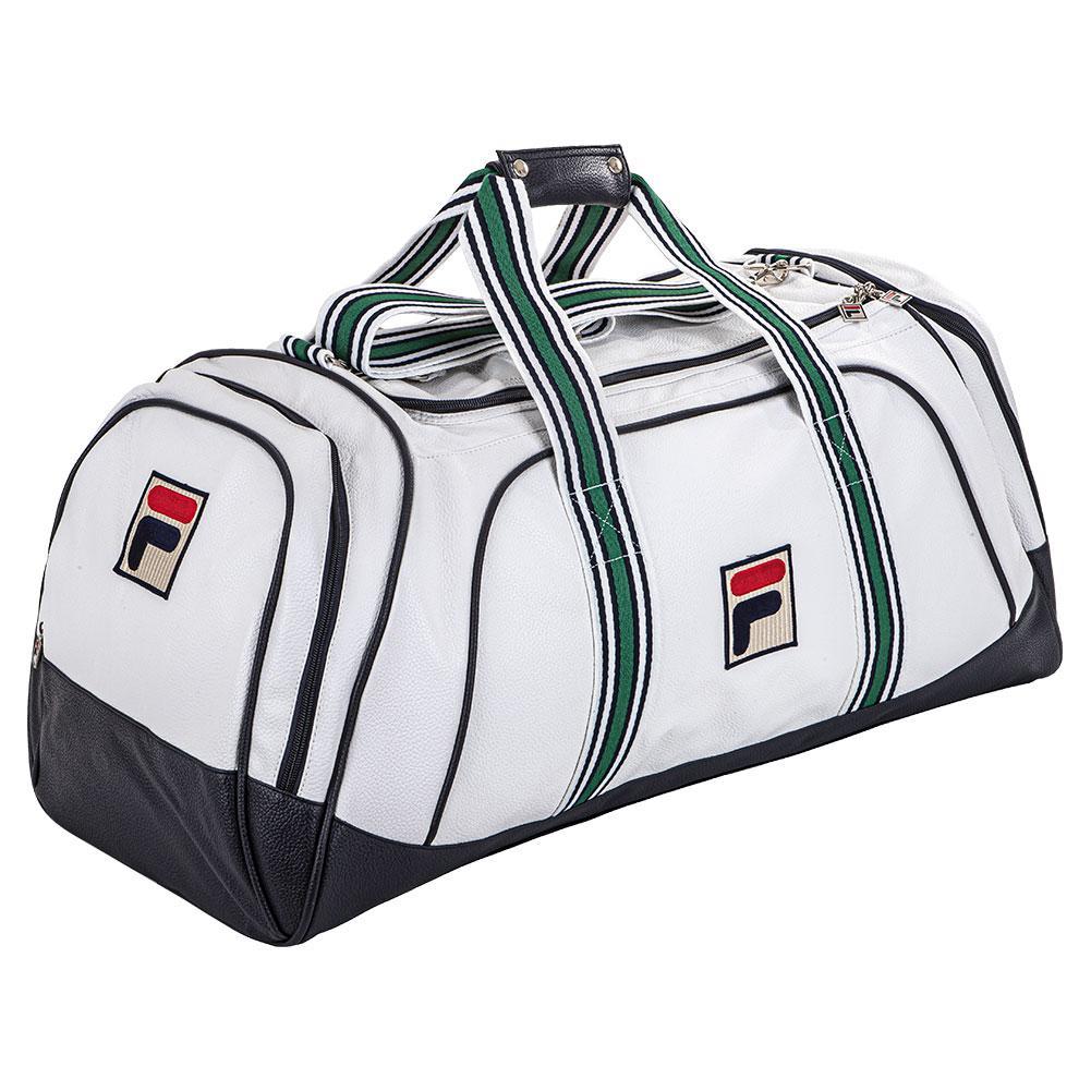 Newton Tennis Duffle Bag White And Navy
