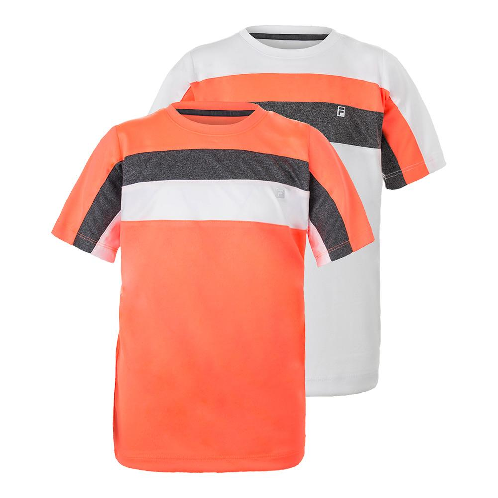 Boys ` Modern Crew Neck Short Sleeve Tennis Top