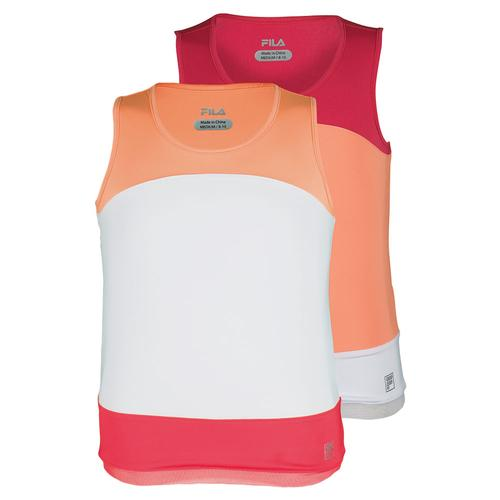 Girls ` Illusion Sleeveless Tennis Tank