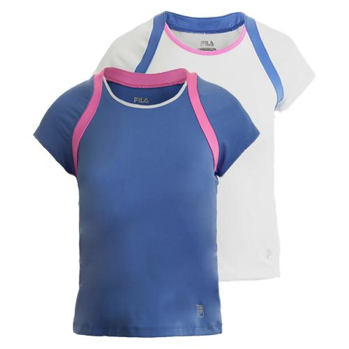 Girls ` Diva Cap Sleeve Tennis Top