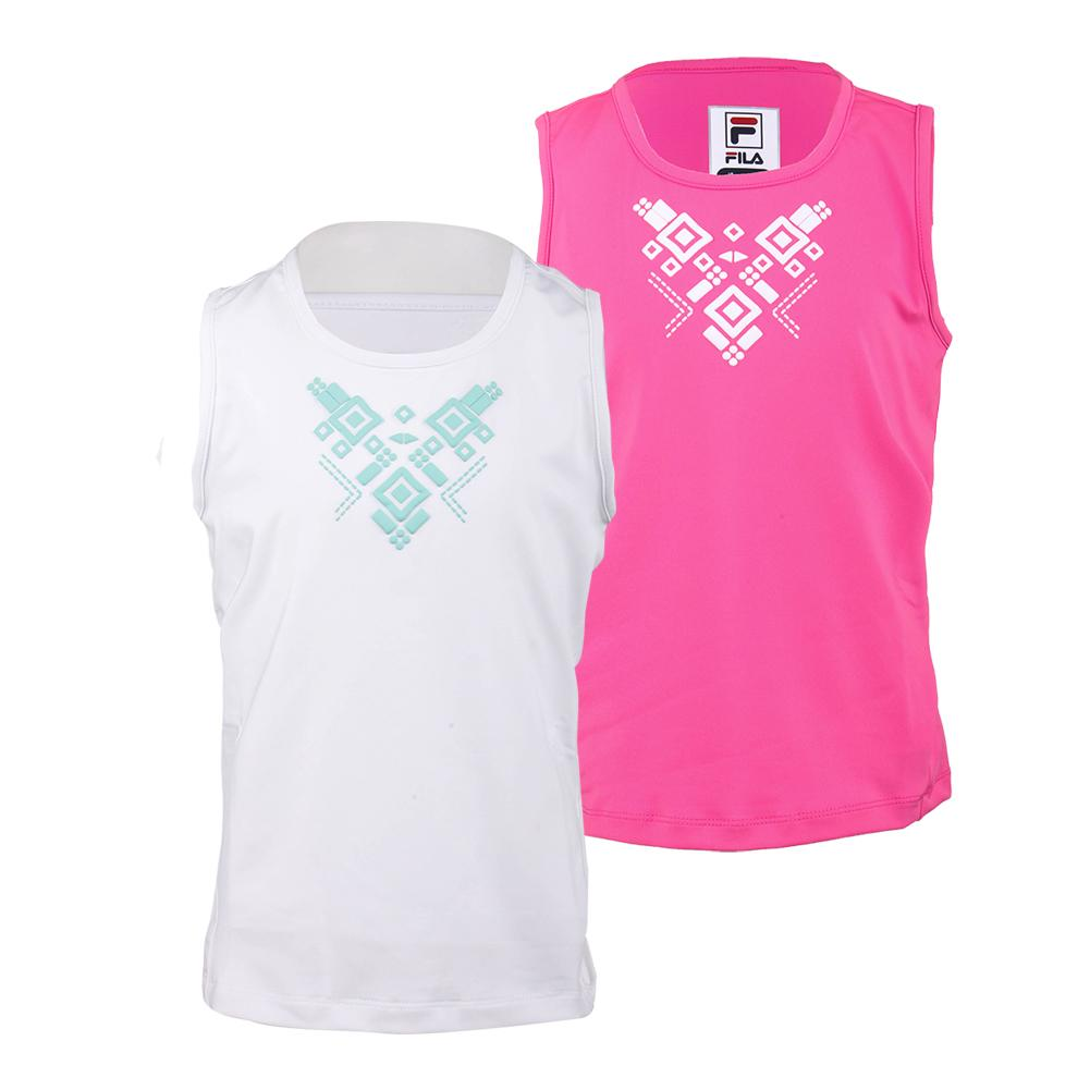 Girls ` Moroccan Impression Tennis Tank