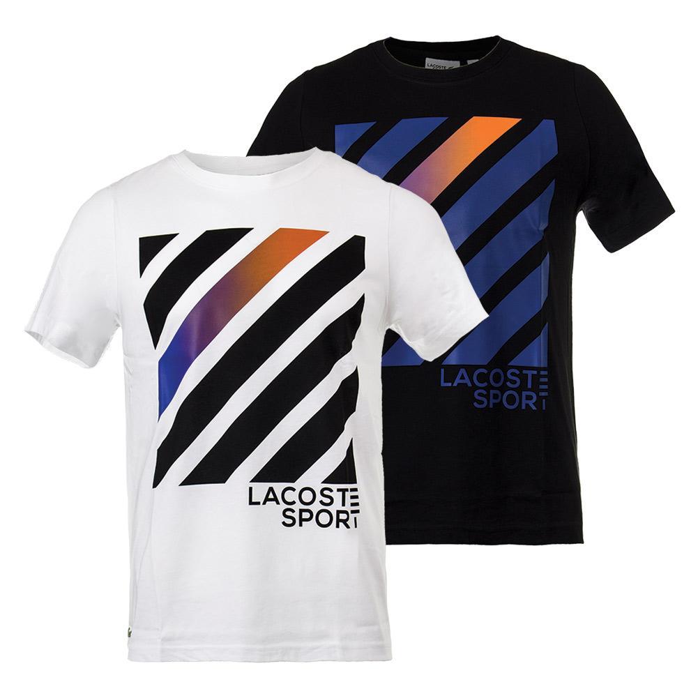Men's Lifestyle Stripe Square Graphic Tennis Tee