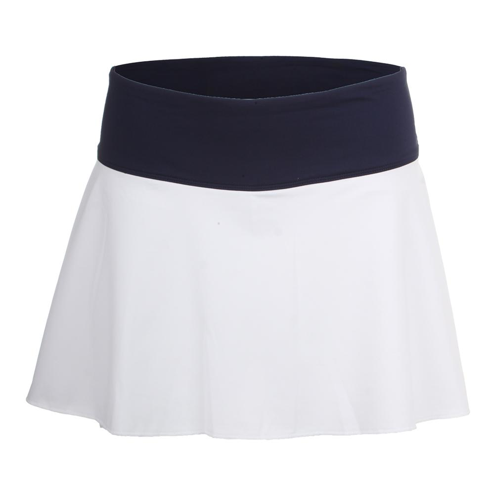 c3d37799cc Fila Women's Heritage Flirty 13.5 Inch Tennis Skort White and Navy