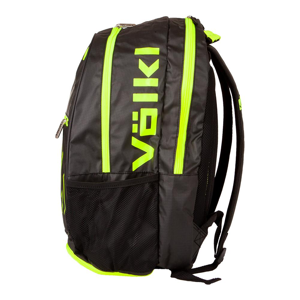 43c59217299e7 Volkl Tour Tennis Backpack Black and Neon Yellow