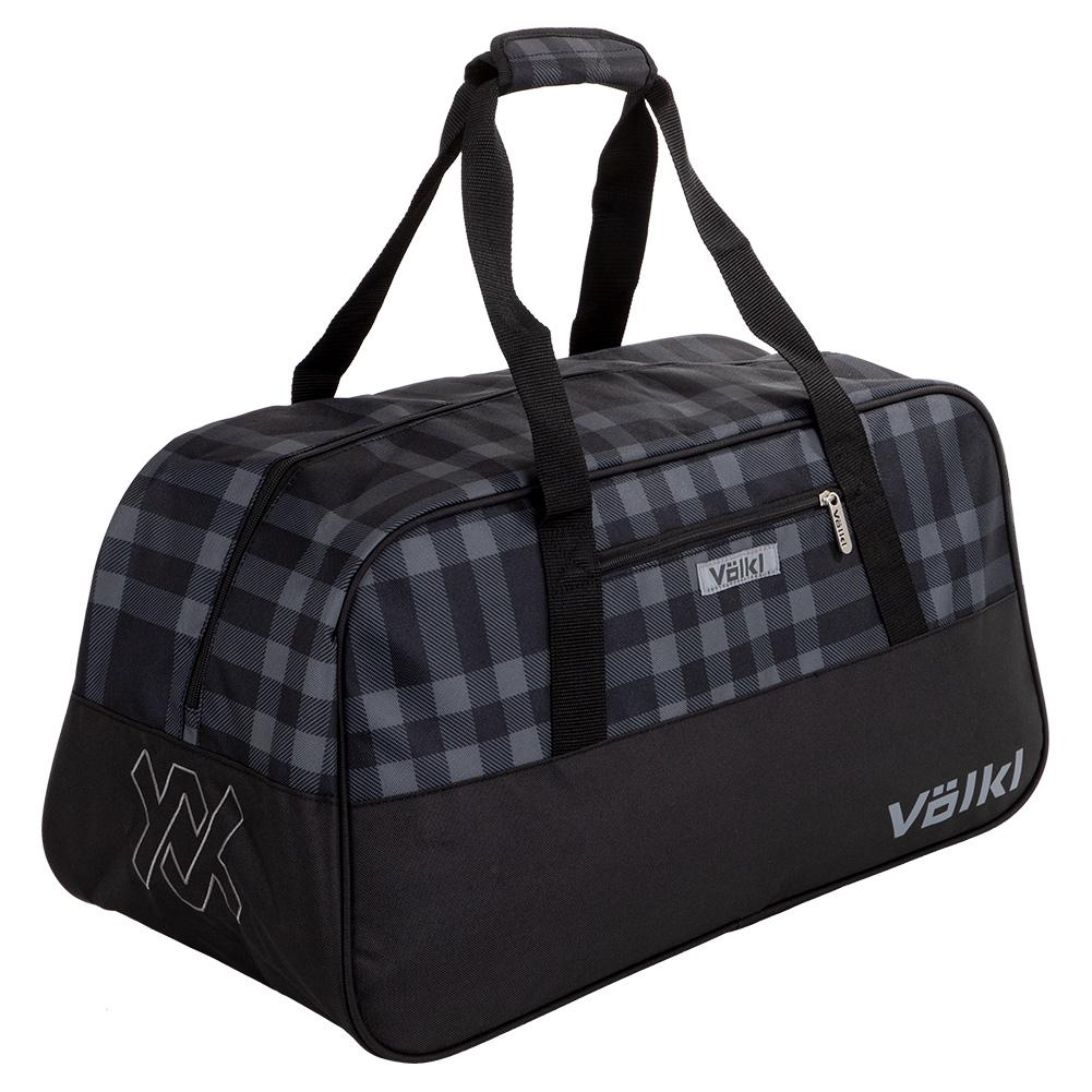 Team Duffle Tennis Bag Black And Plaid