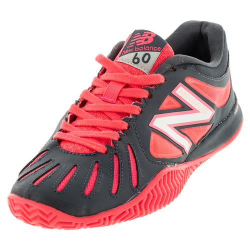 Women's 60v1 B Width Clay Tennis Shoes Pink And Dark Gray