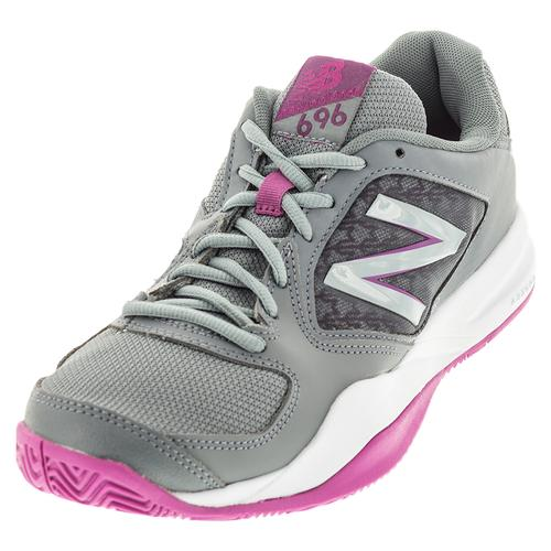 Women's 696v2 B Width Tennis Shoes Gray And Purple