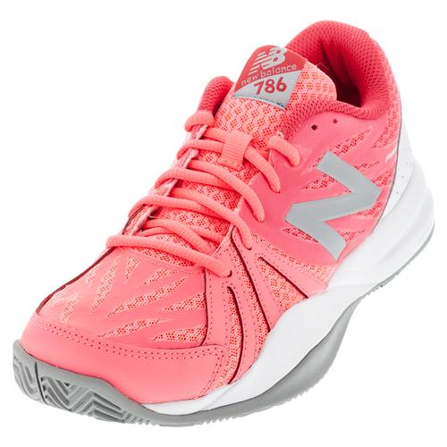 Women's 786v2 B Width Tennis Shoes Guava And White