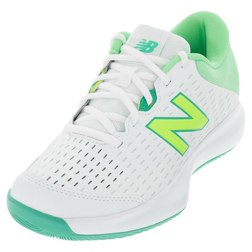 Women's 696v4 B Width Tennis Shoes White And Agave
