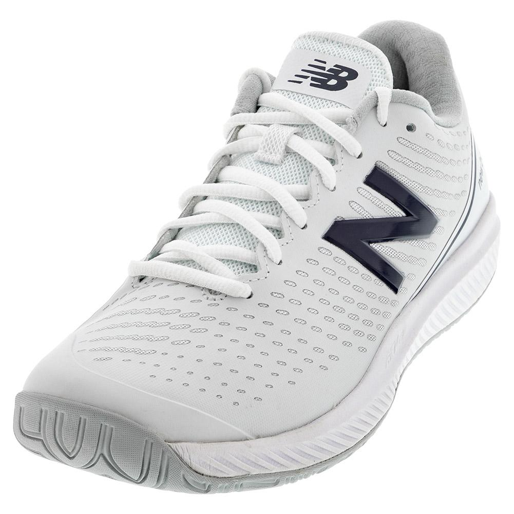 Women's 796v2 2e Width Tennis Shoes White And Navy