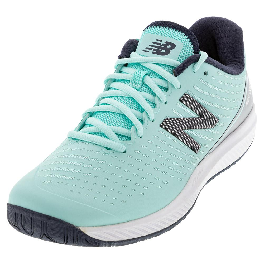 Women's 796v2 2e Width Tennis Shoes Bali Blue And Silver