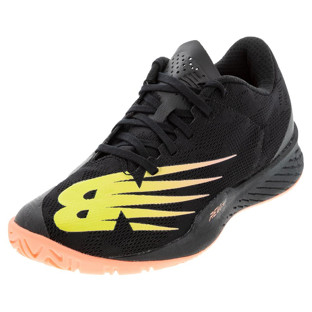 Women's 896v3 B Width Tennis Shoes Black And Ginger Pink