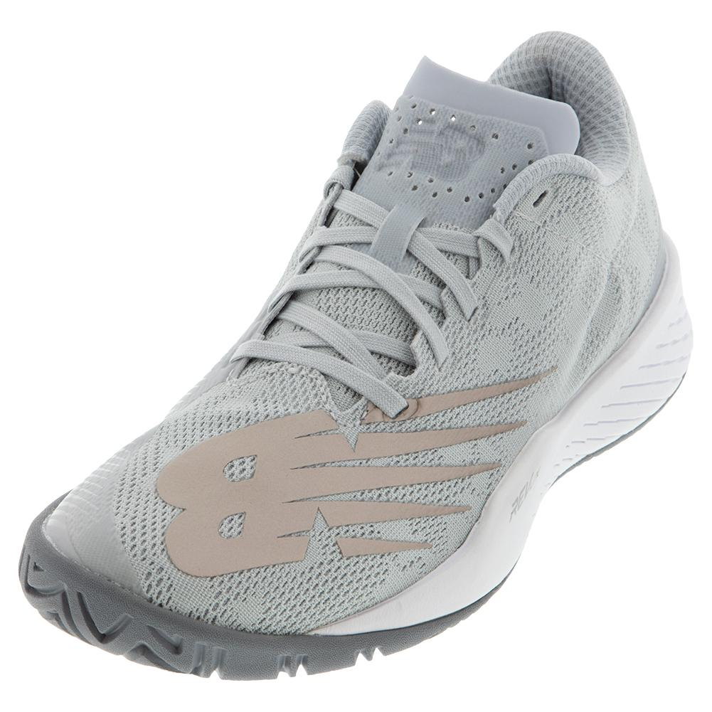 Women's 896v3 B Width Tennis Shoes Grey And Champagne