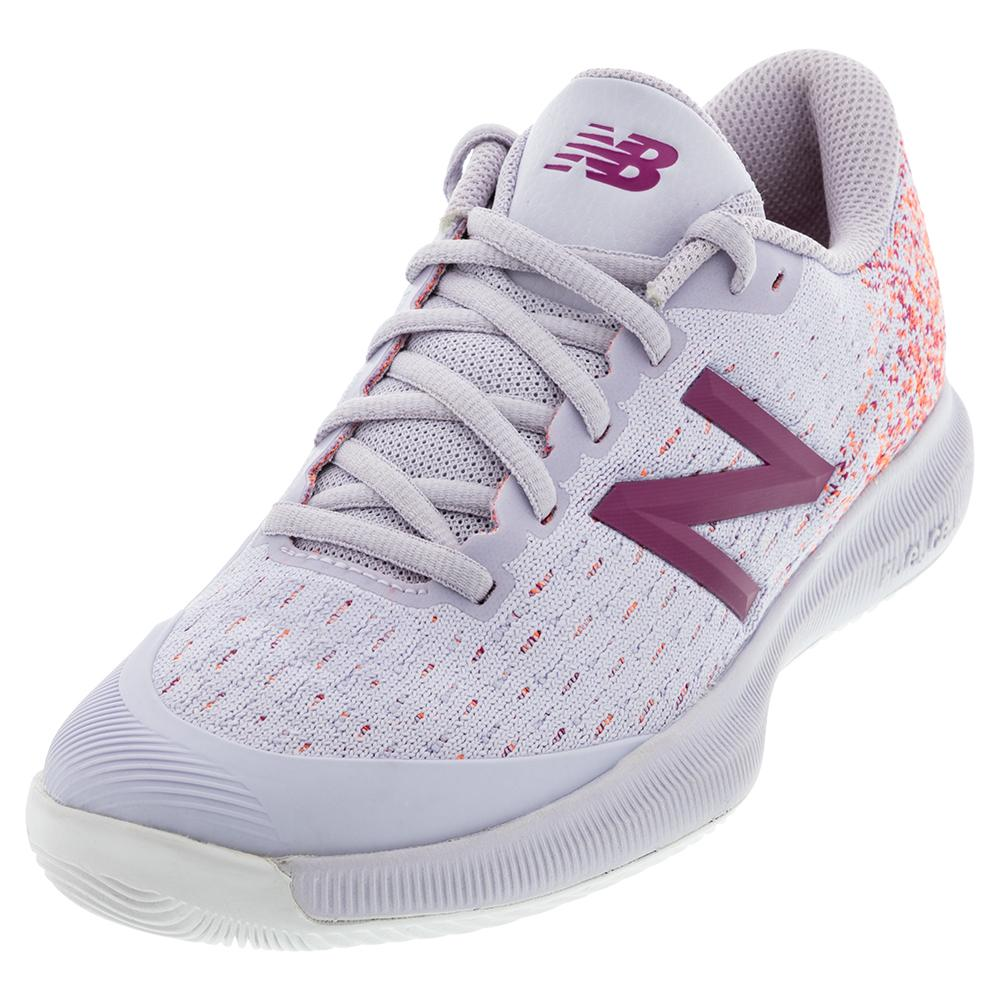 Women's 996v4 B Width Tennis Shoes Thistle And Mulberry